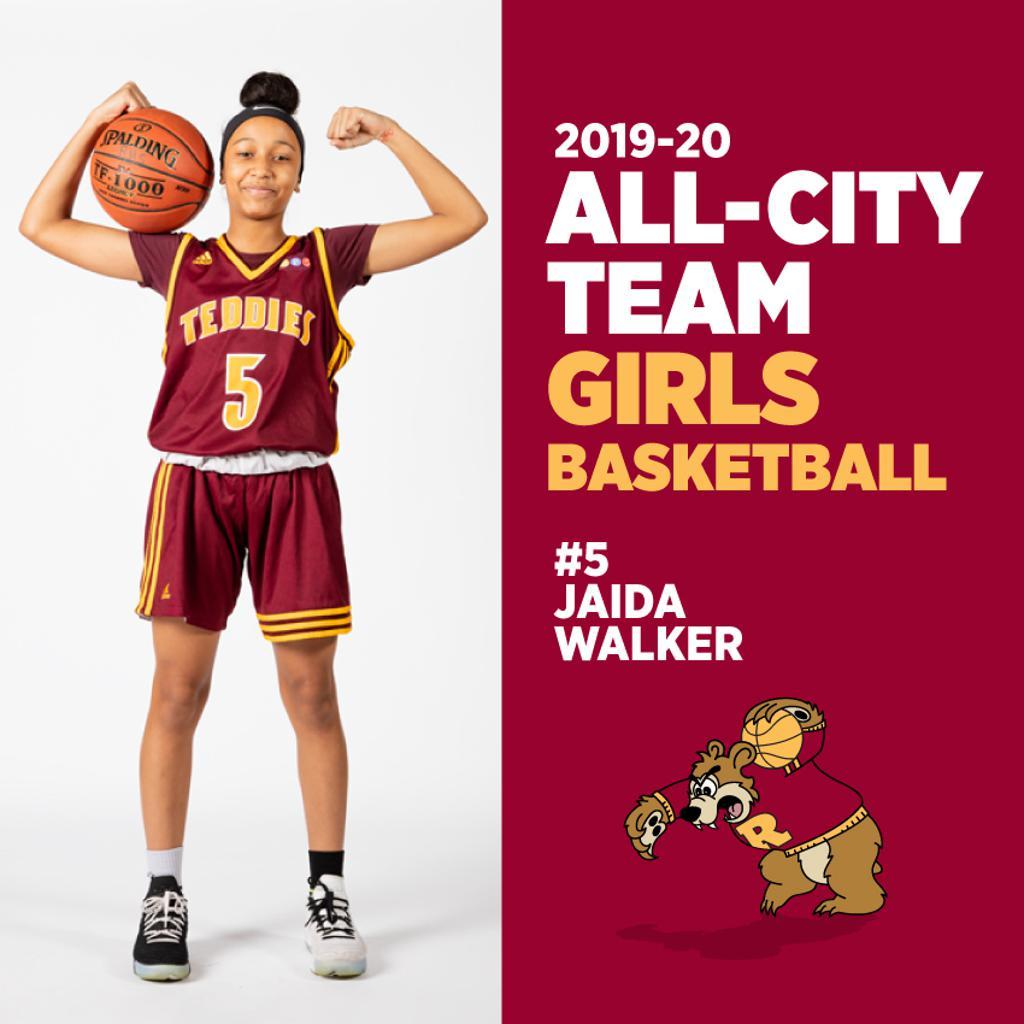 Jaida Walker, Minneapolis Roosevelt Girls Basketball, All-City Team