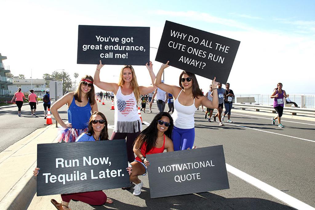Funny running signs
