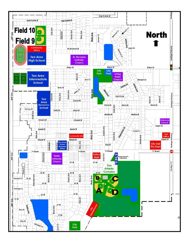 Baseball/Softball Field Map