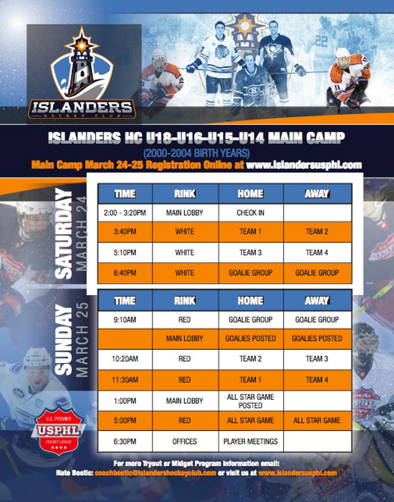 IHC USPHL U18-U16-U15 ID SKATE MARCH 24 & 25