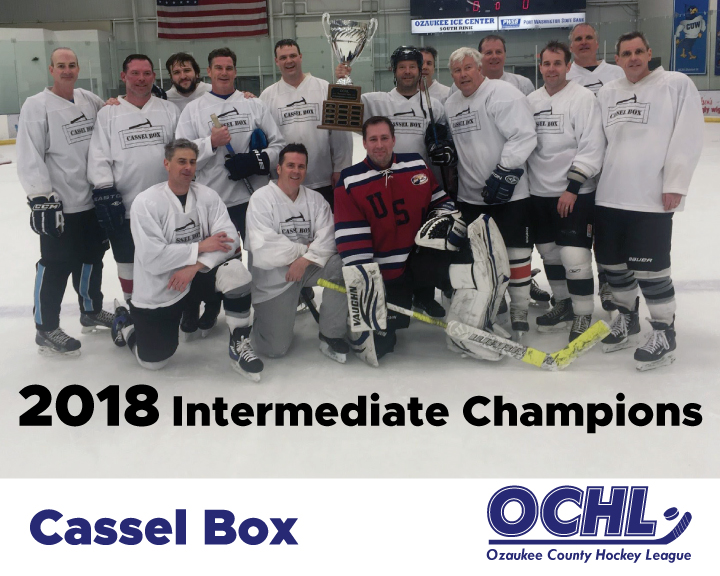 2018 Intermediate League Champions - Cassel Box