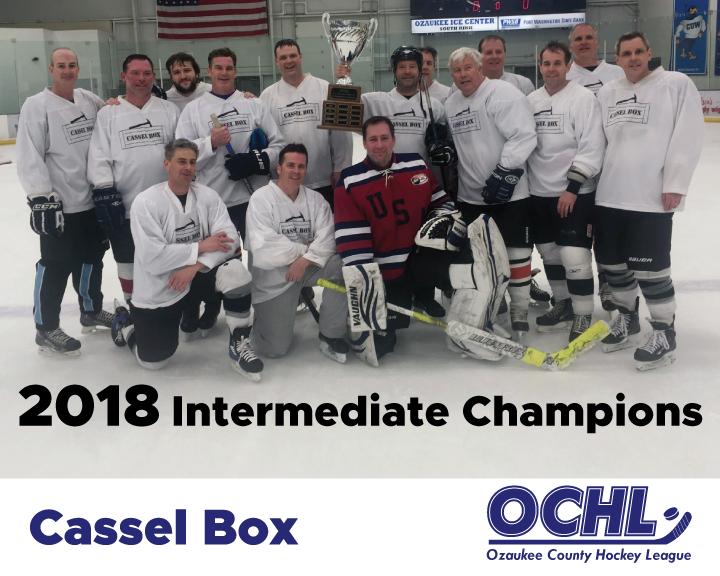 2018 Intermediate League Champions - Cassel Box