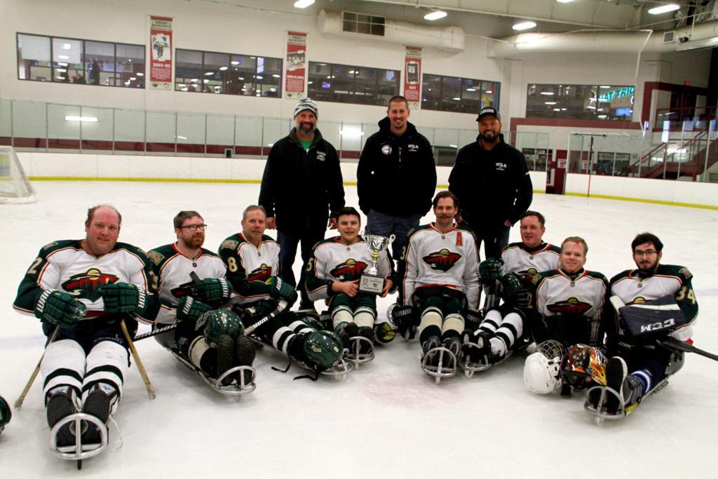 Minnesota Sled hockey team representing the sled division.