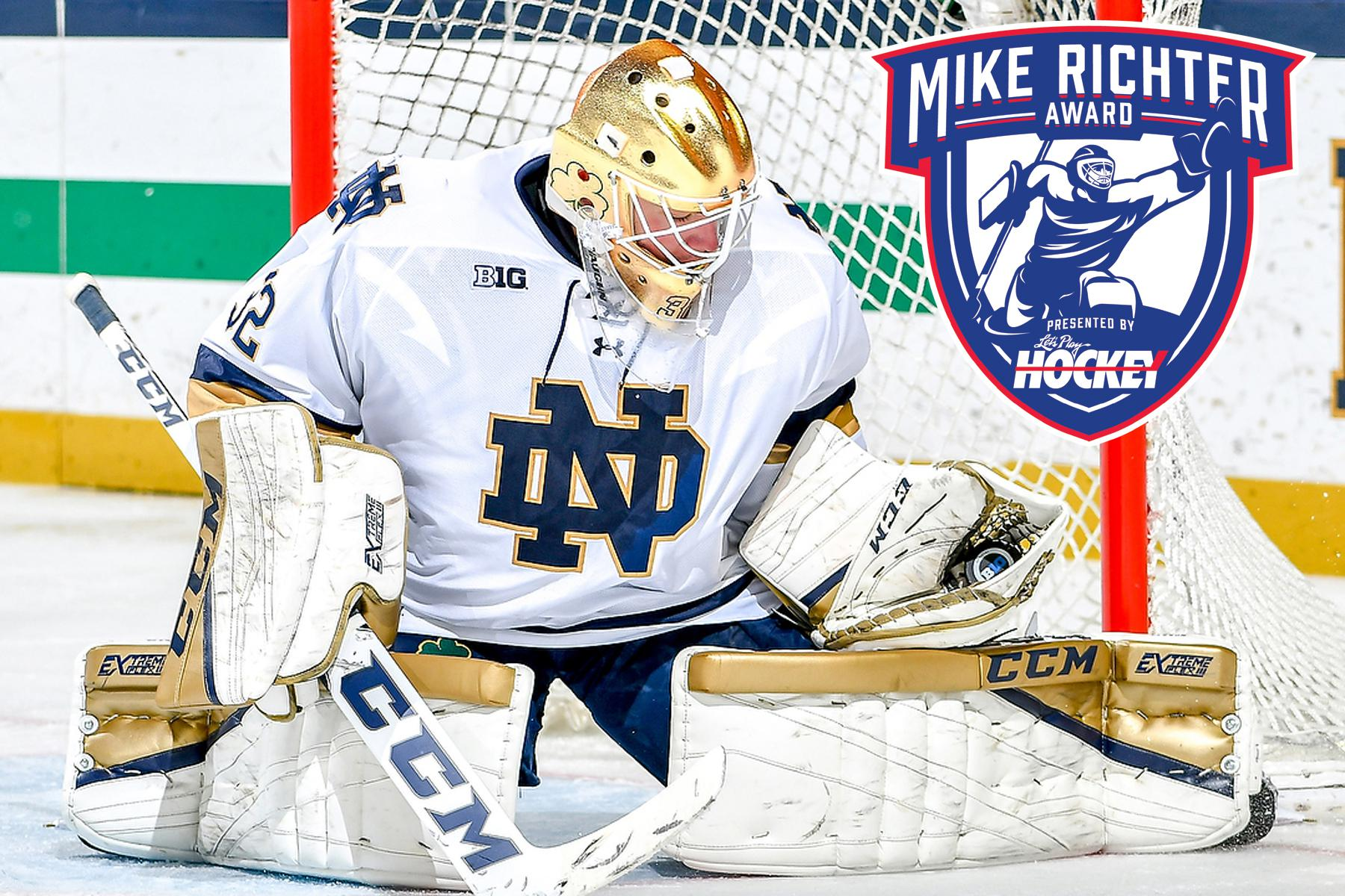 Cale Morris Of Notre Dame Named Winner Of 2018 Mike Richter Award