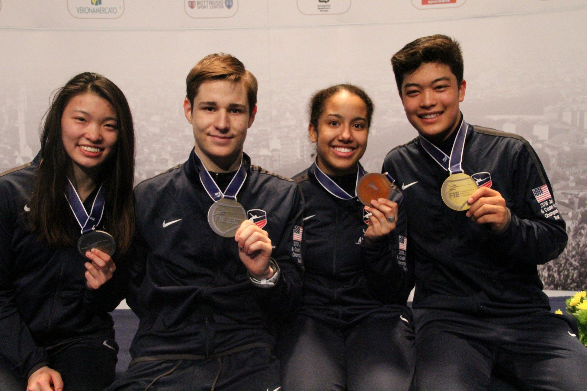 93f4d2ca0d16 Kenji Bravo Wins Cadet World Title, Leads Team USA to Four Foil Medals