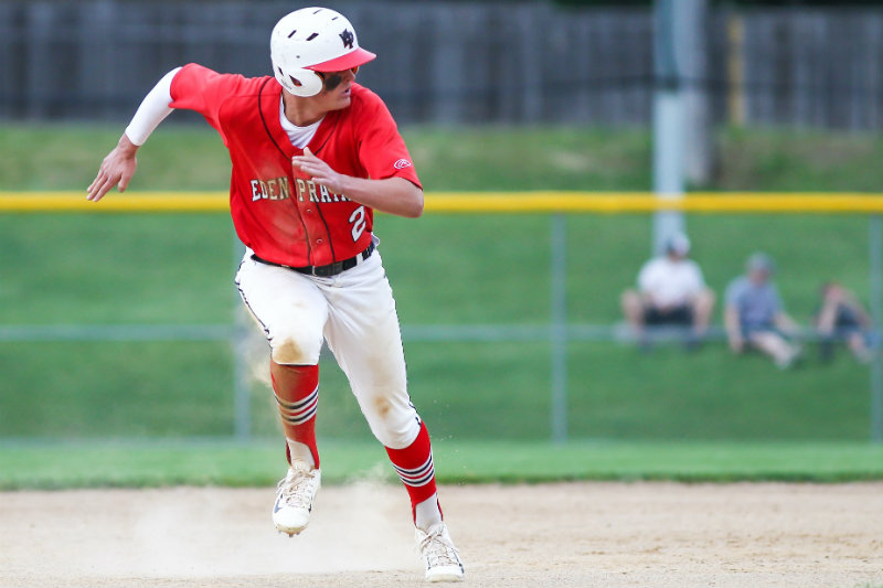 Eden Prairie shortstop Zack Elliott returns to the Eagles for his senior season, providing leadership, offensive production and championship pedigree. Photo by Mark Hvidsten, SportsEngine