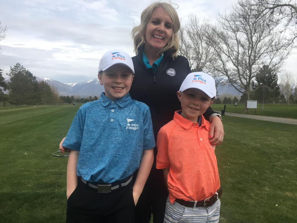Annie Fisher with her sons Warren (left) and Weston