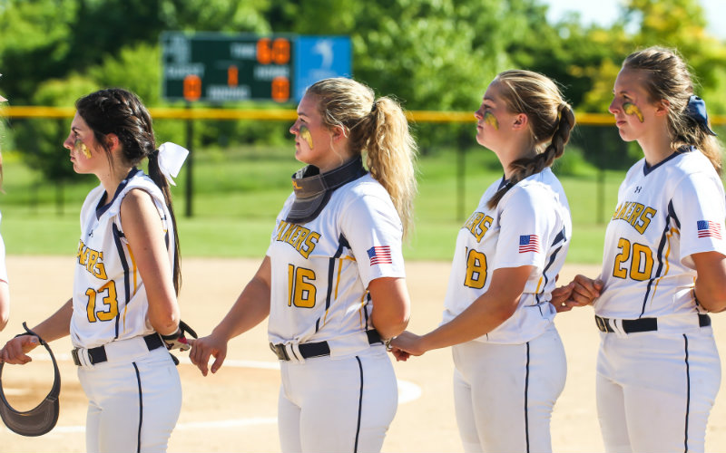 Prior Lake has come up in short in recent seasons in the section playoffs. The Lakers hope to change their luck with standout pitcher Kailey Ahlstrom. Photo by Mark Hvidsten, SportsEngine
