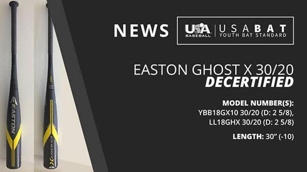 Decertified Easton Bats!!!