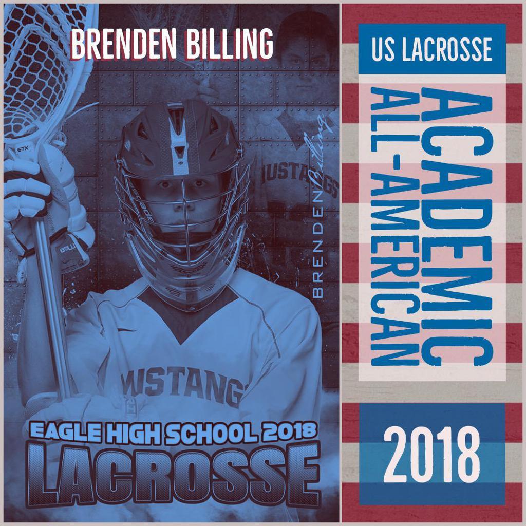 Brenden Billing: US Lacrosse Academic All-American