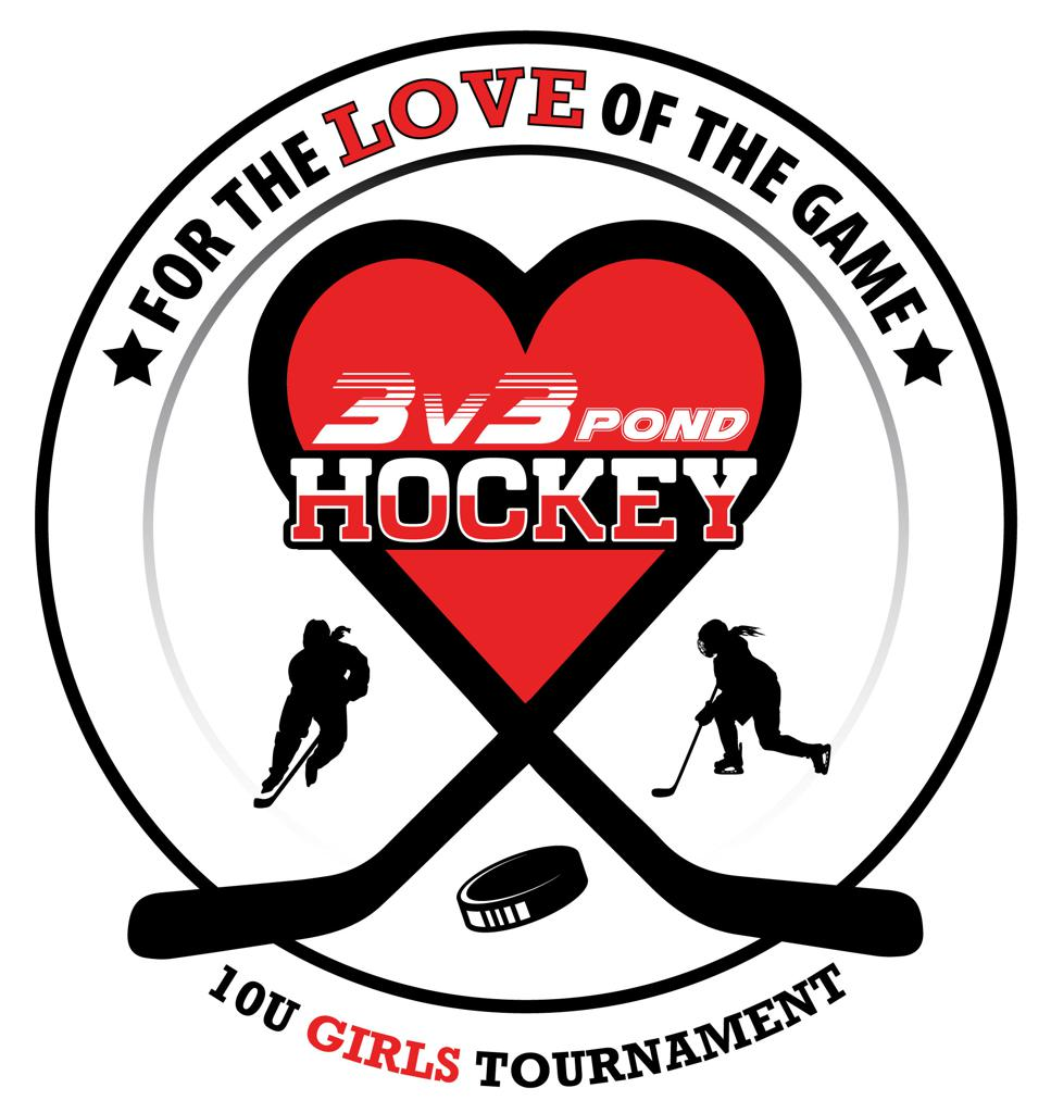 for the love of the game girls 10u 3v3 pond hockey