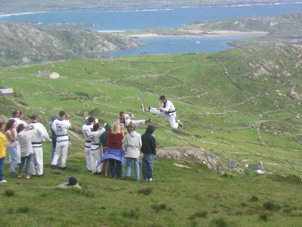 Jump Front Kick in Ireland, 2004