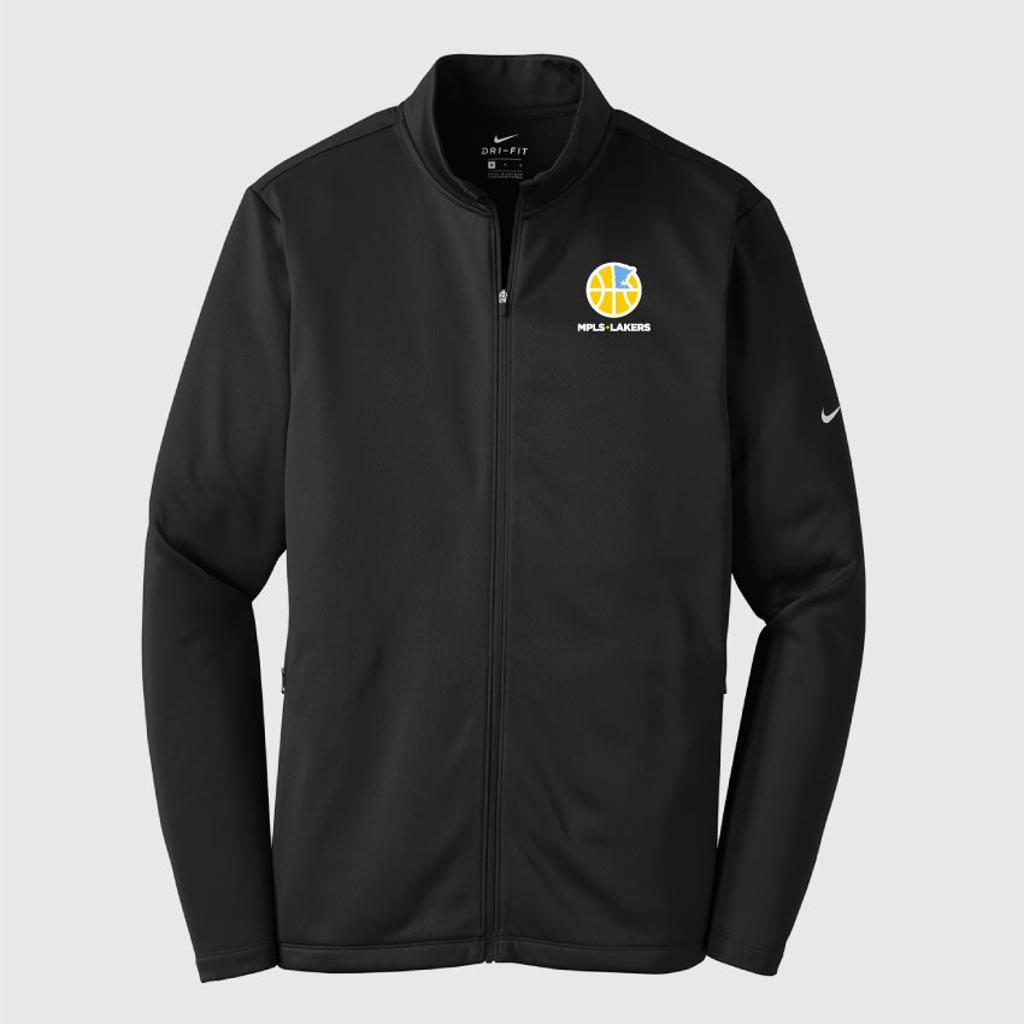 Black Track Nike Dry-Fit Jacket with embroidered logo and text