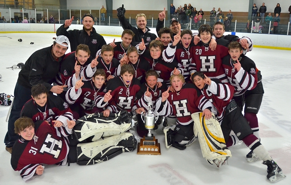 "2011-2012 Thunder Bay Minor Bantam ""A"" Champions Fort William Hurricanes"