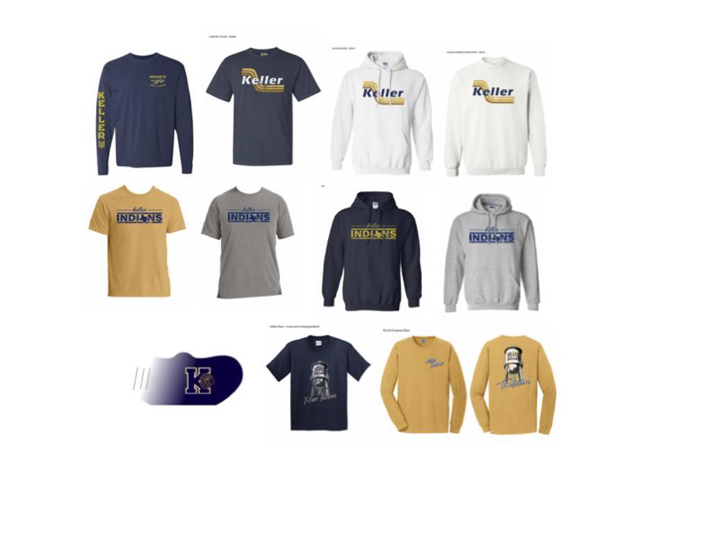 2020-2021 Keller Athletic Boosters Spirit Wear