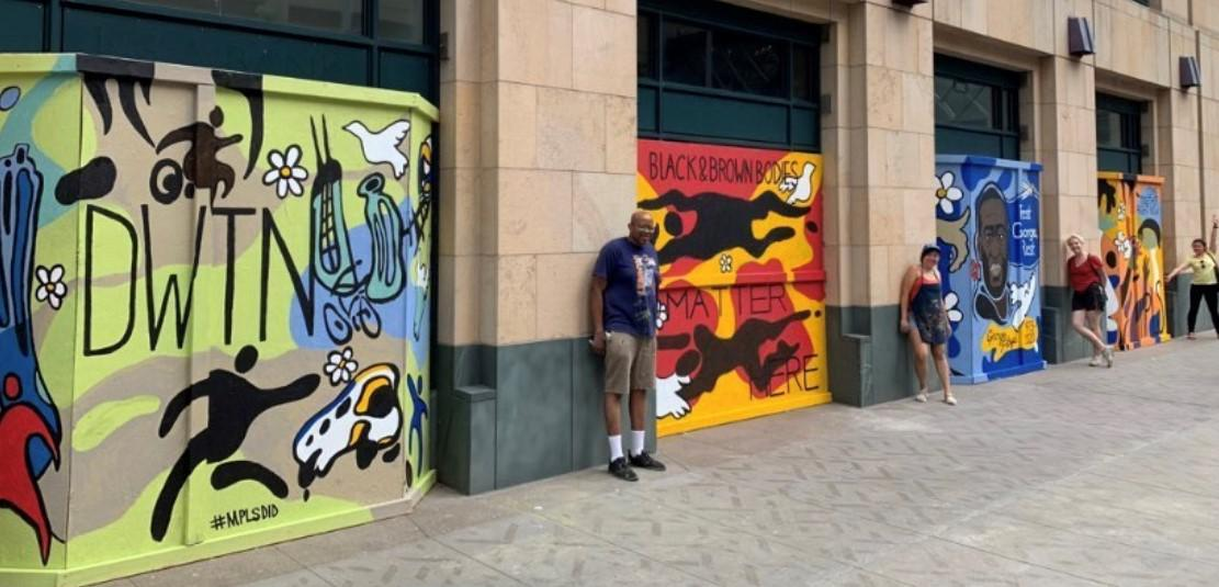 Downtown Mpls Mural June 2020 by Christopher Harrison
