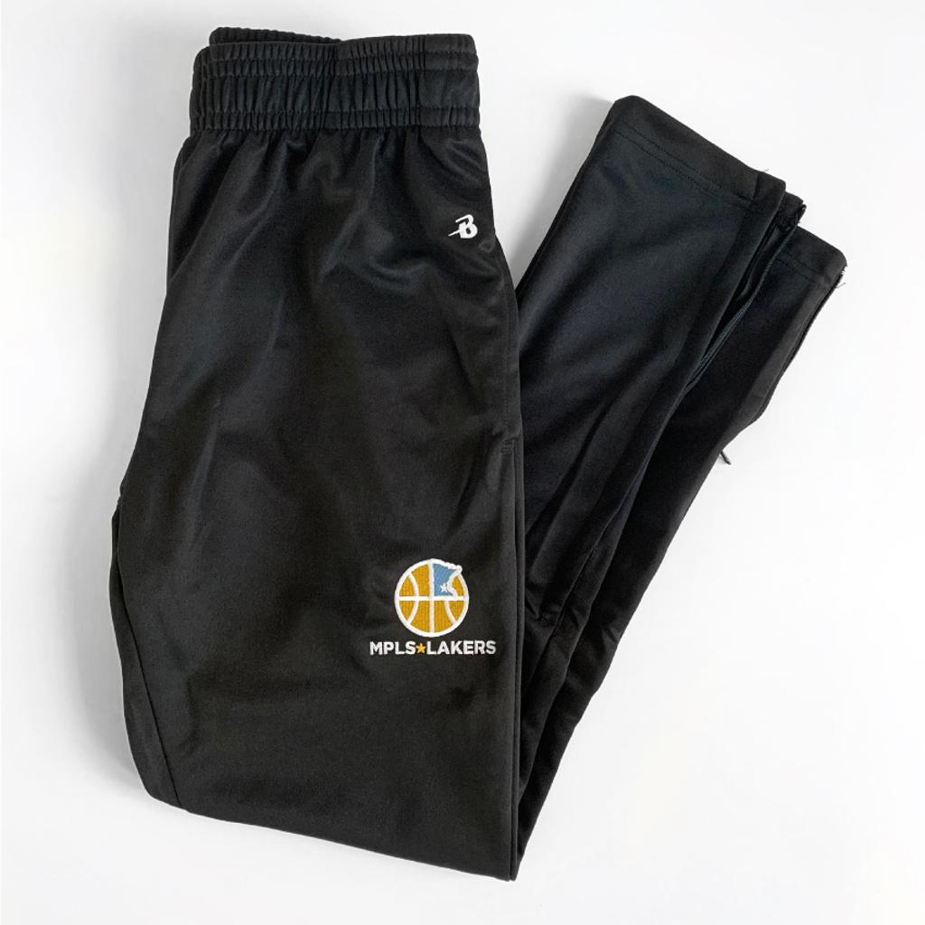 Official Mpls Lakers Youth Traveling Basketball Program Inc apparel and gear in Minneapolis, MN: Black Jogger sweatpants with embroidered logo