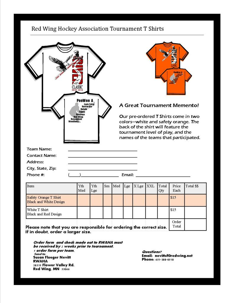 Tournament t shirts pre order for extra features for Single order custom t shirts
