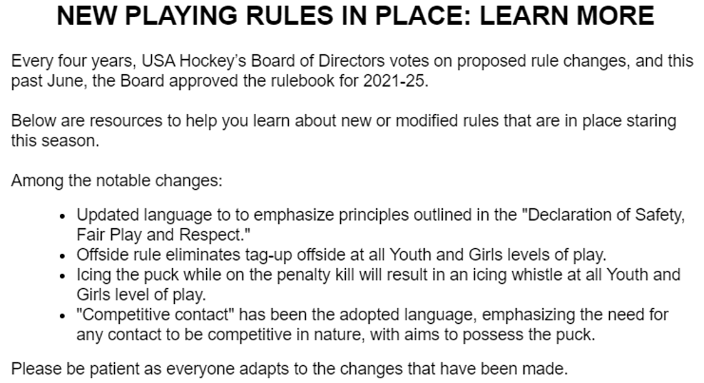 New Rules for 2021-25