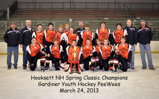 Gardiner PeeWees - NH Spring Classic Champions - 2012-2013