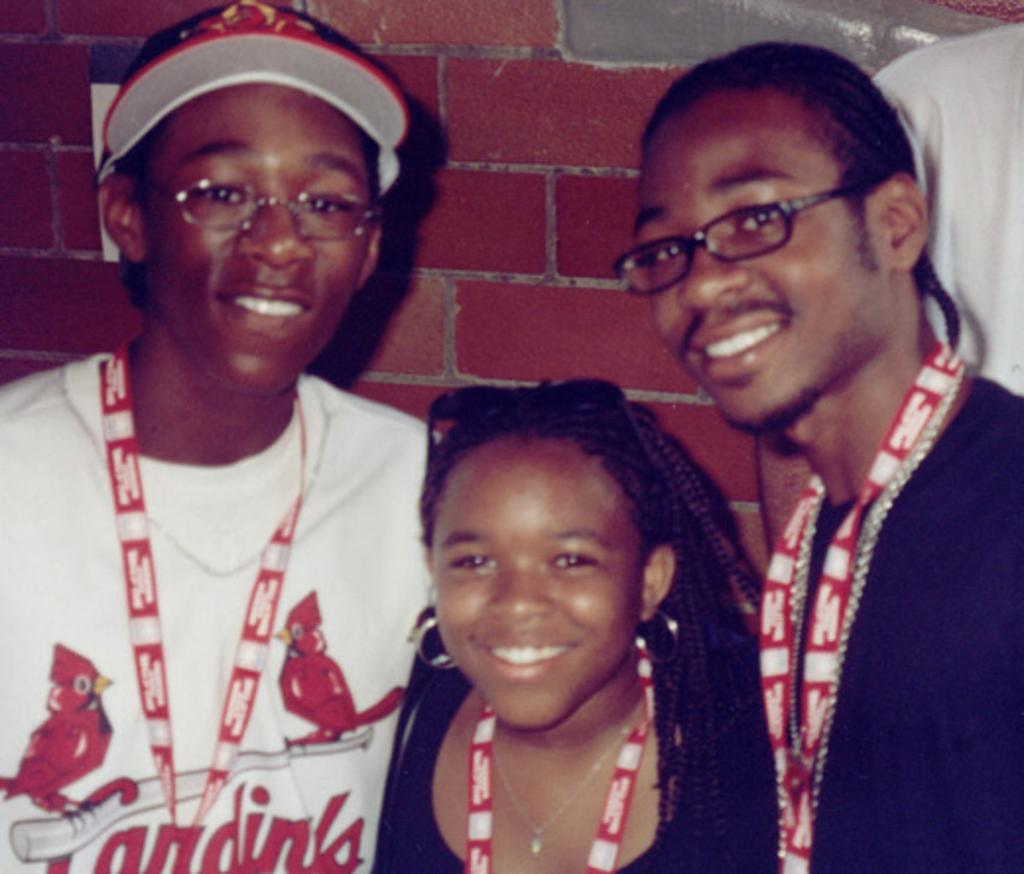 Ozzie Smith and Ethel Denise Jackson children Nikko Smith, Dustin Smith and Taryn Smith