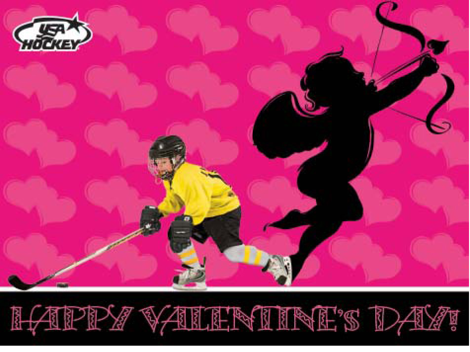 Holiday Cards – Hockey Valentines Day Cards