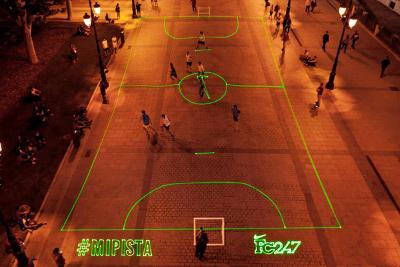 Nike Mi Pista street soccer field