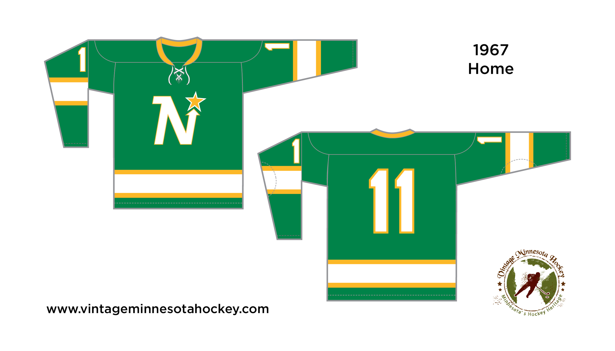 1e5826a0b North Stars Uniform Evolution (1967-1993)