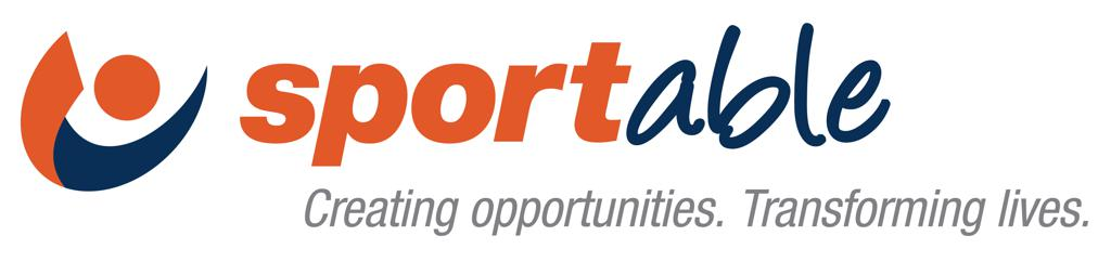 Sportable logo creating opportunities. transforming lives.