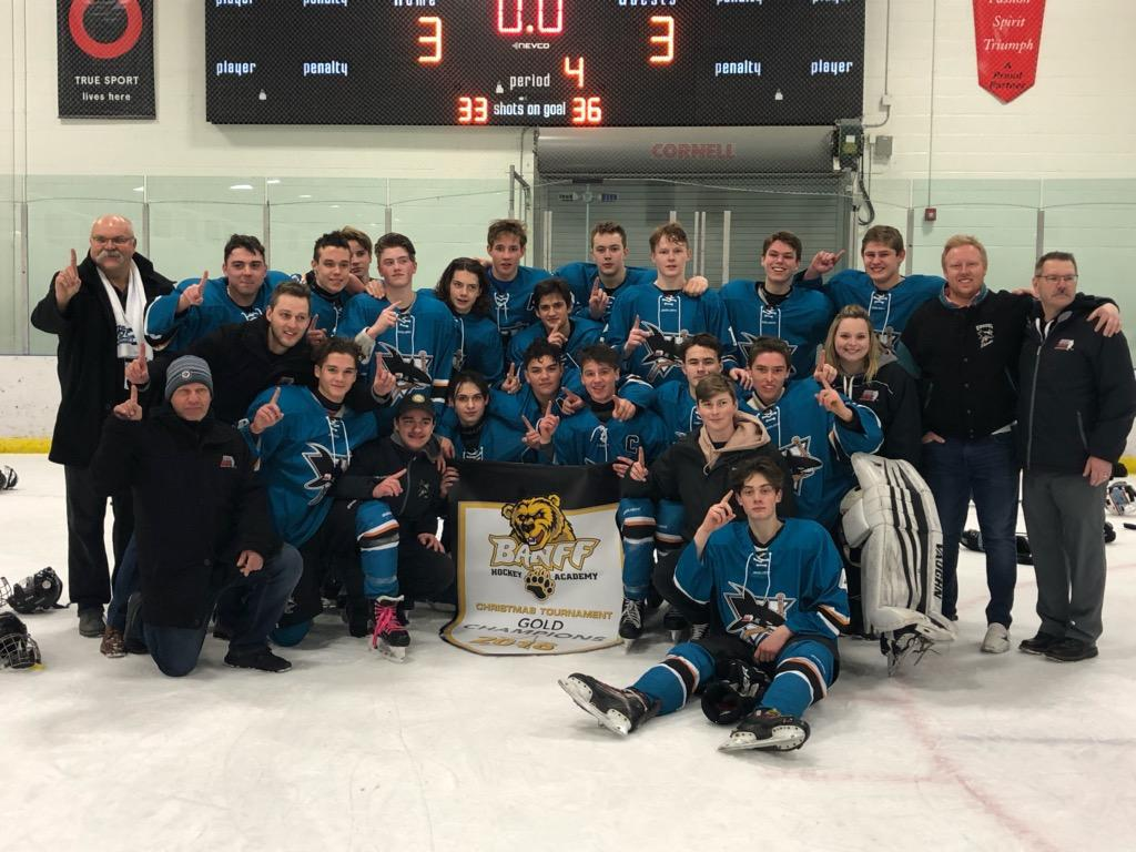 U17 Midget Prep Sharks captured 1st place at Banff Hockey Academy Christmas Challenge Nov 20th to Dec 2nd