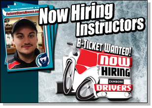 NOW hiring zamboni drivers - B Ticket Employees Wanted