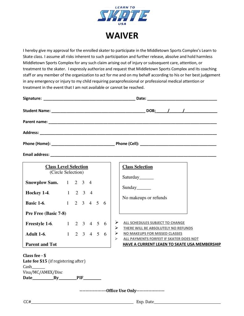 Click on image to download Waiver