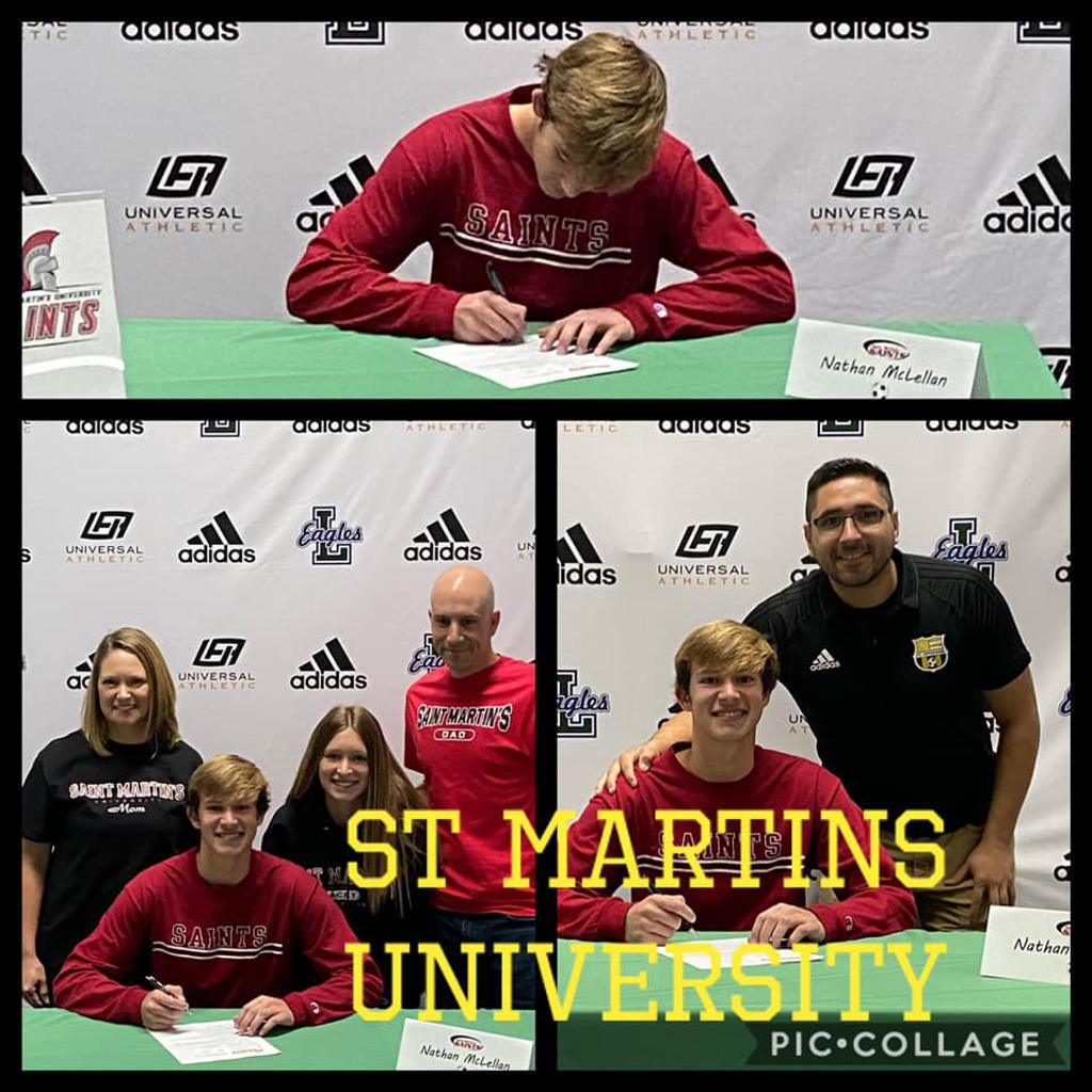 Nathan McLellan signs with St Martins University