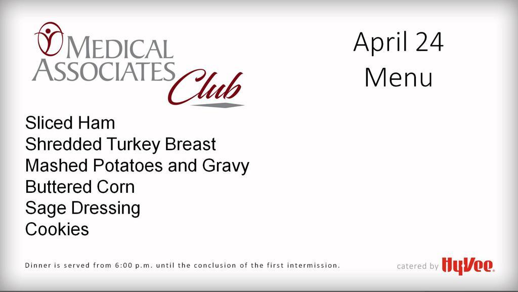 April 24 menu