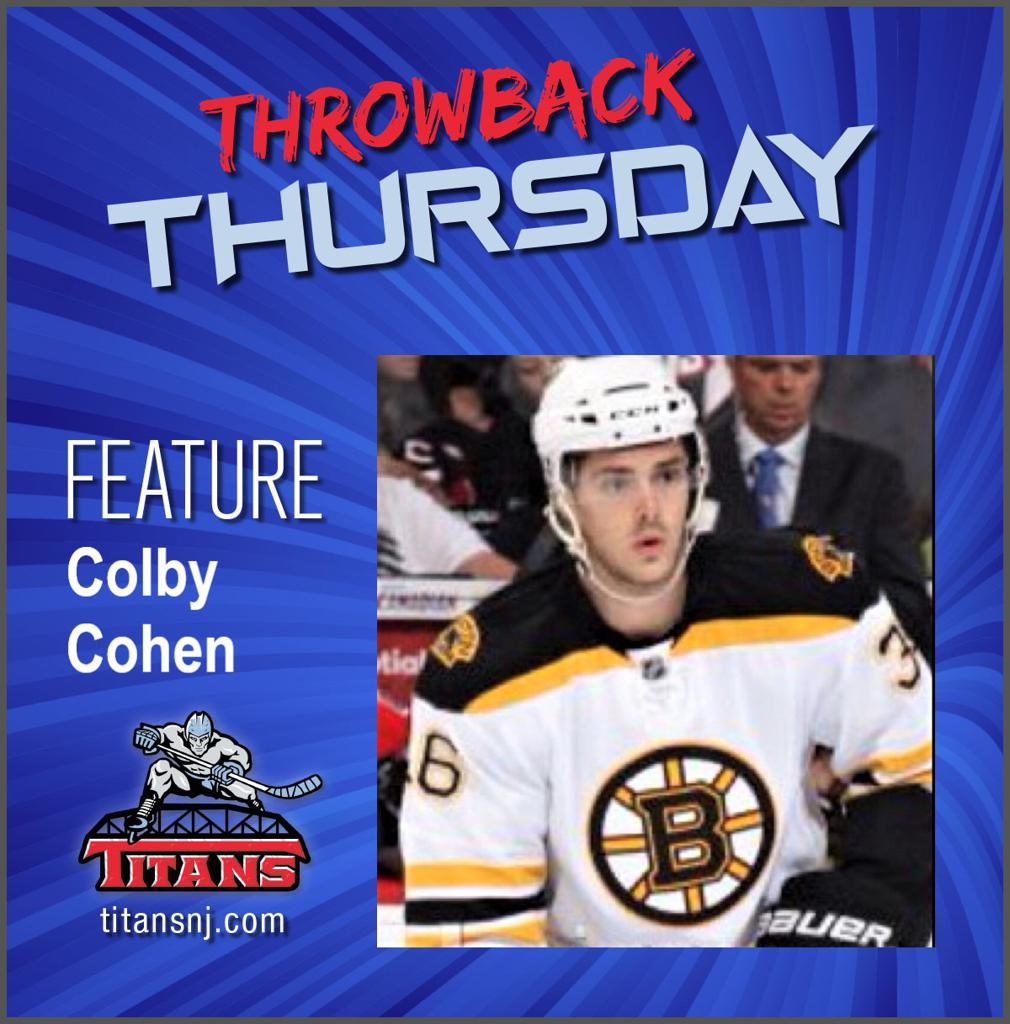 April 23, 2020 Throwback Thursday edition features Colby Cohen