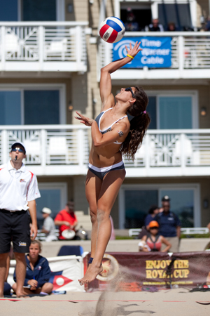 Natalie Beach Serve