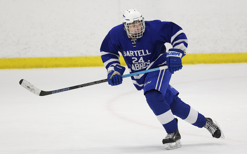 Sartell-St. Stephen looks to again stop a powerful Alexandria offense as the two meet for the second time this season. The Sabres blanked the Cardinals 1-0 on Jan. 3. Photo by Jeff Lawler, SportsEngine