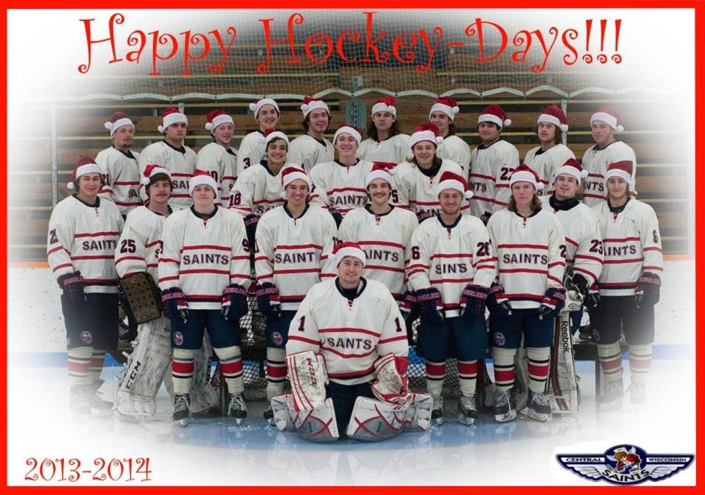 Happy Hockey Days from your Central Wisconsin Saints!