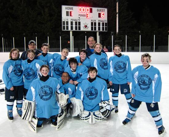 PeeWee Sky Win Winter Classic Game 6-1 at Chevy Chase Outdoor Rink!