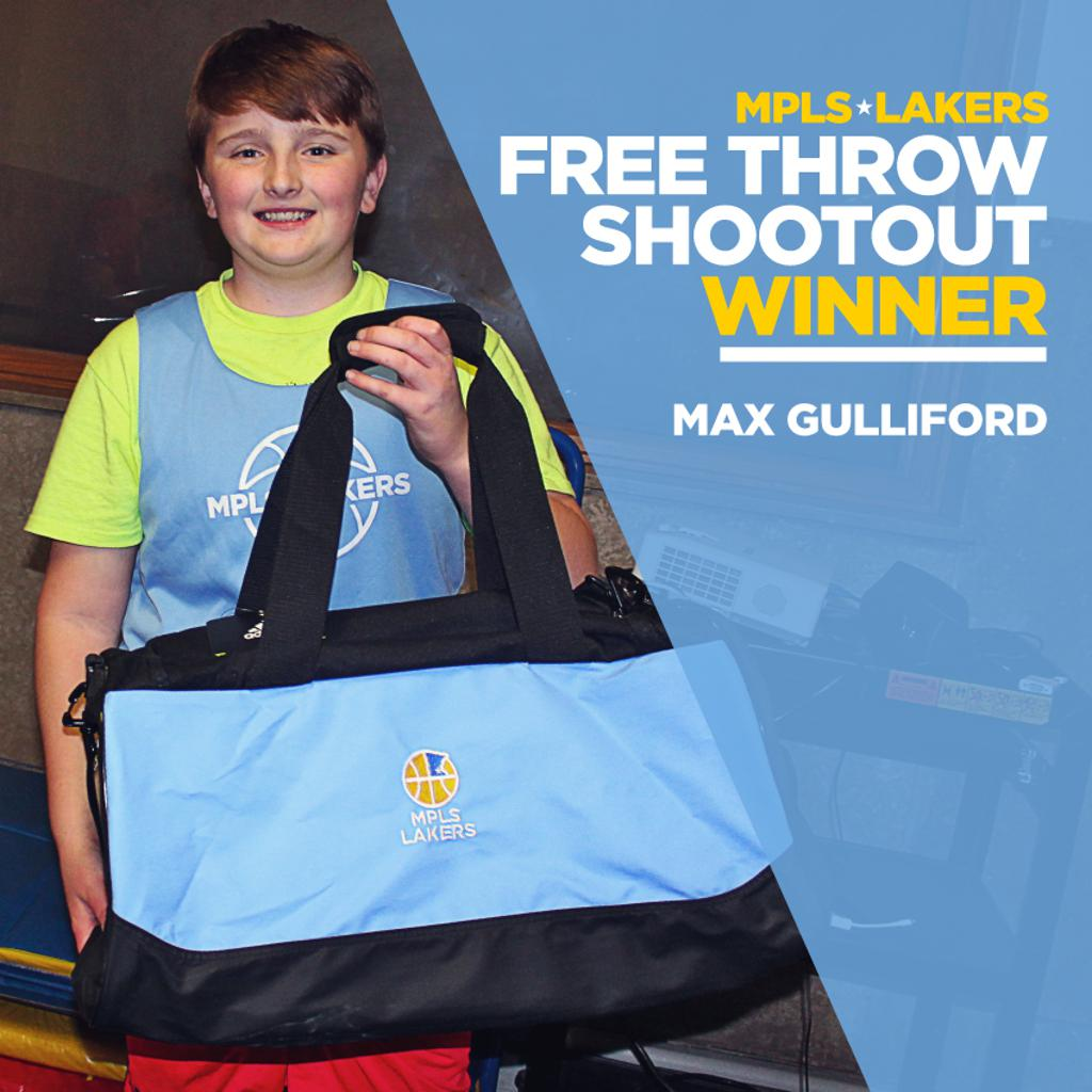 Max Gulliford from Boys 6th Grade Blue made 14 of 16 free throws at the Cadet Classic last weekend. Way to go & congrats Max!