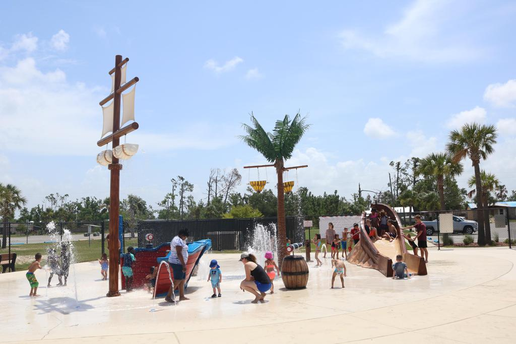 Splash pad at Kinsaul Park, Lynn Haven, FL