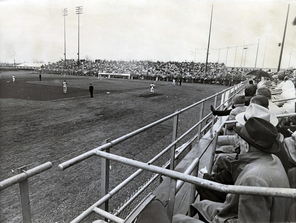 Ohio lucas county maumee -  5 198 Fans Greeted The Mud Hens When They Returned On April 17 1965 For Opening Day Against Toronto At The Lucas County Recreation Center In Maumee
