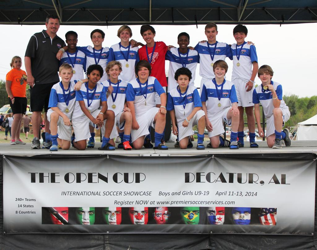Open Cup 2014 - U13 Boys Gold Champions