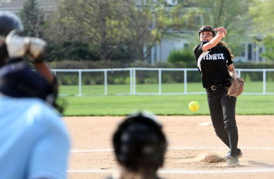 Fenwick's Valerie Perrelli delivers a pitch