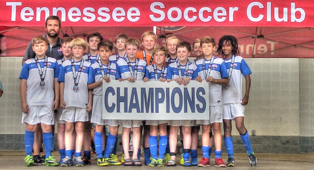 Team Picture TSC 02 Premier South - Tennessee Invitational U12 11v11 Champions