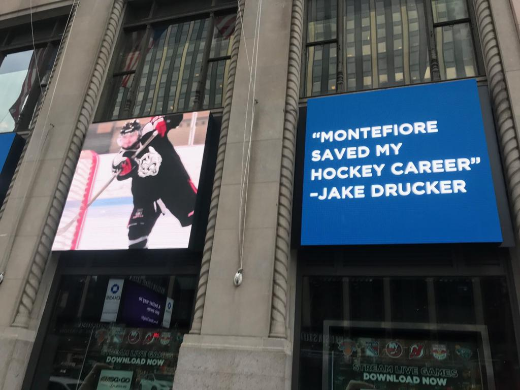 Jake's Story Outside the NHL Store in New York, NY
