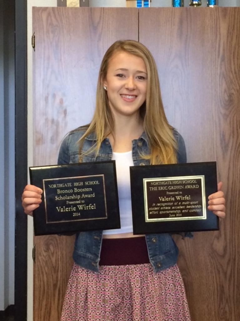 Valerie Wirfel - Griffin Award and Bronco Booster Scholarship Award recipient