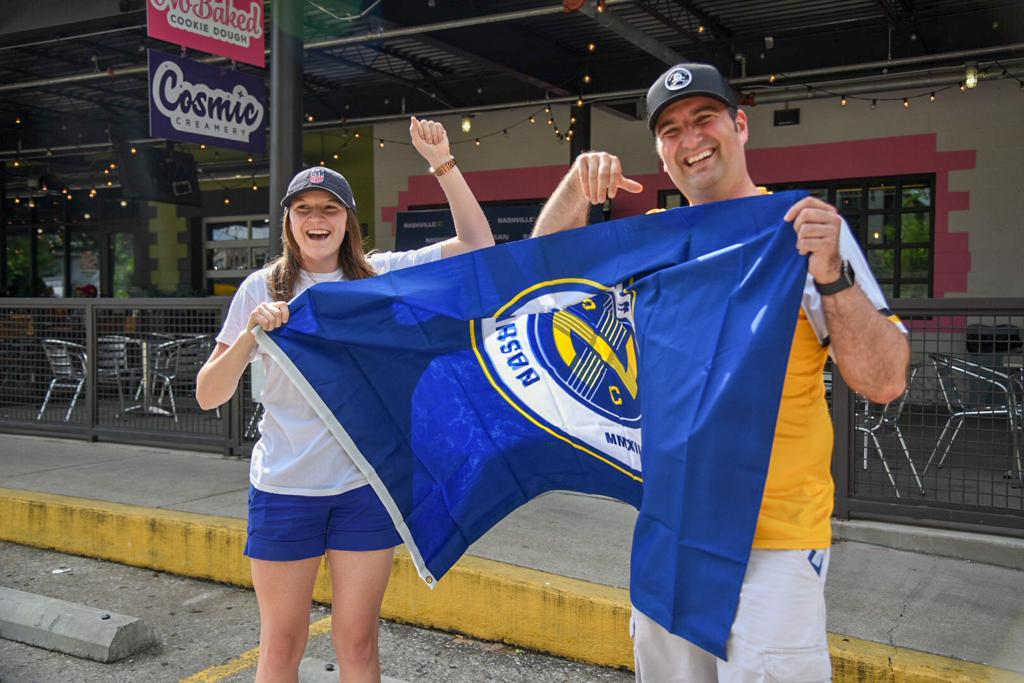 Nashville SC Fans with Flag