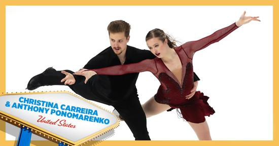 Skate America ice dance competitors - Christina Carreira and Anthony Ponomarenko - Team USA