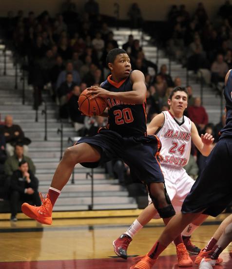 Evanston's Nojel Eastern grabs a rebound